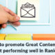 How to promote Great Content that isn't performing well in Ranking