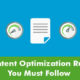 Content Optimization Rules