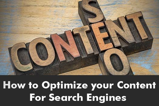 How to Optimize your Content For Search Engines