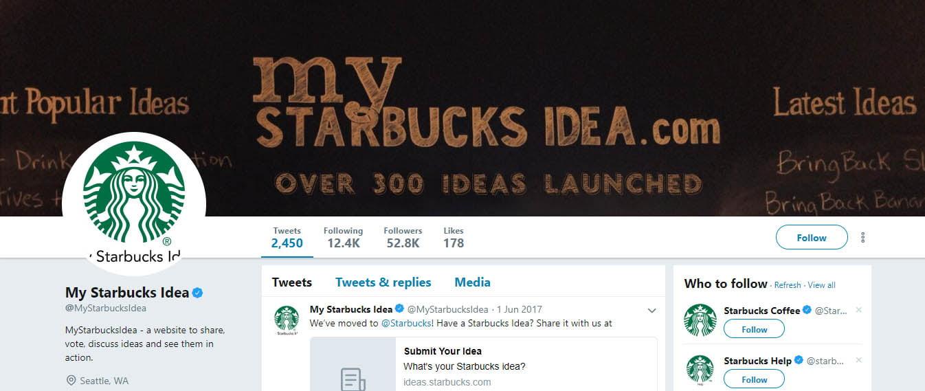 Starbuck Idea